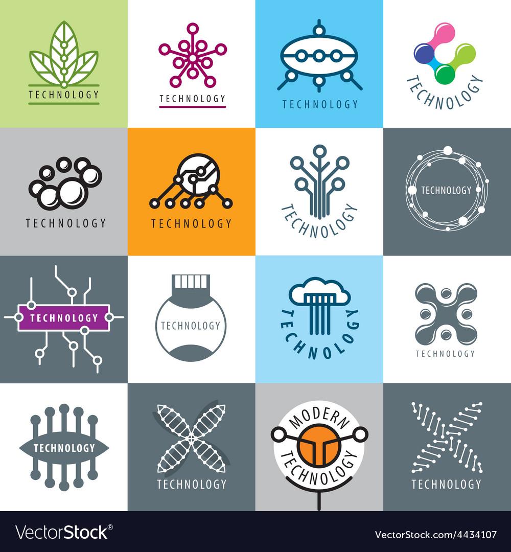 Big set of logos technology vector | Price: 1 Credit (USD $1)