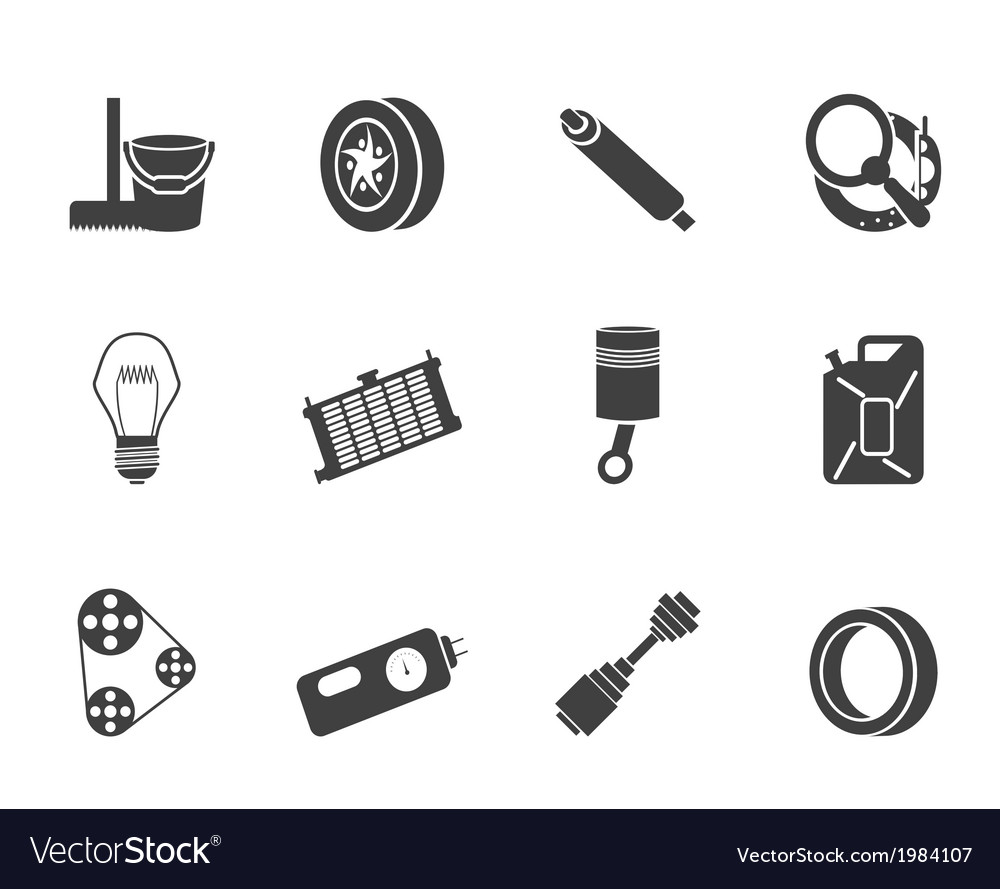 Car parts and services icons vector | Price: 1 Credit (USD $1)