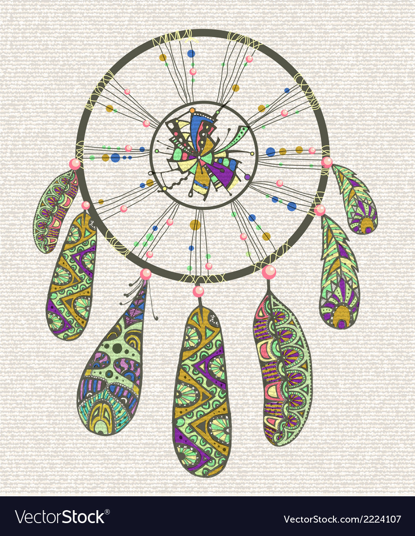 Decorative dream catcher vector | Price: 1 Credit (USD $1)