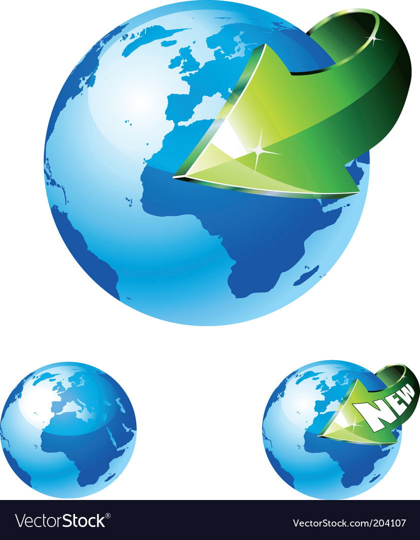 Earth globe vector | Price: 3 Credit (USD $3)