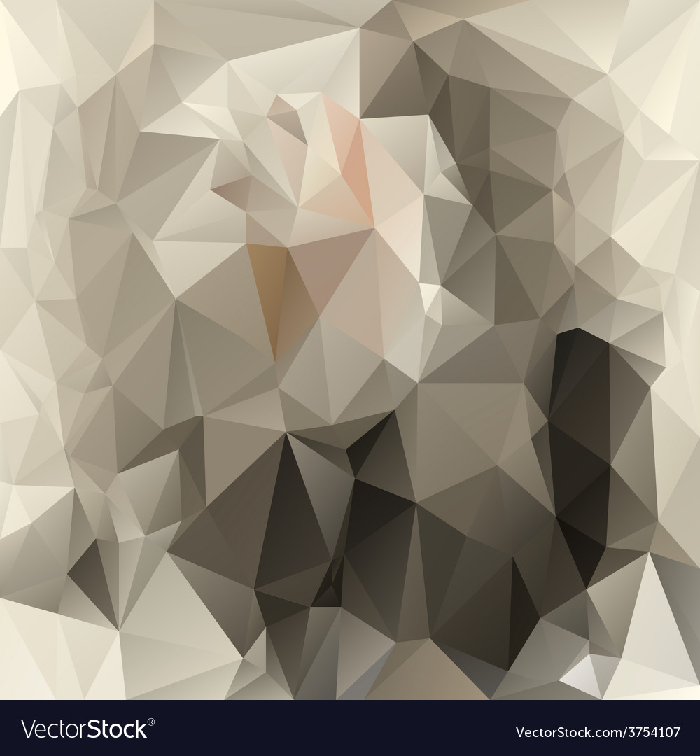 Gray beige polygonal triangular pattern background vector | Price: 1 Credit (USD $1)