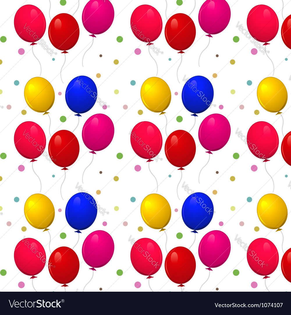 Pattern with balloons on a white background vector | Price: 1 Credit (USD $1)