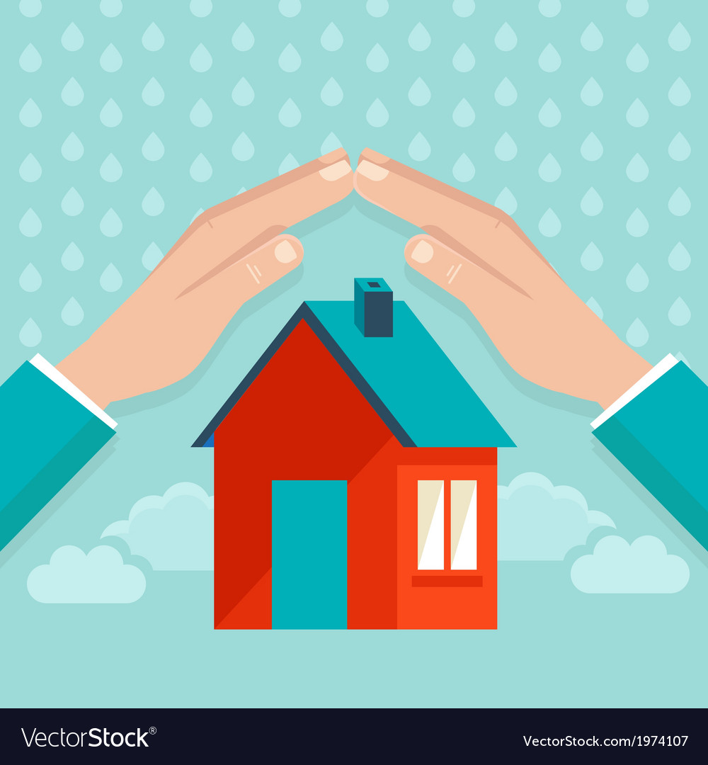 Protect house vector | Price: 1 Credit (USD $1)