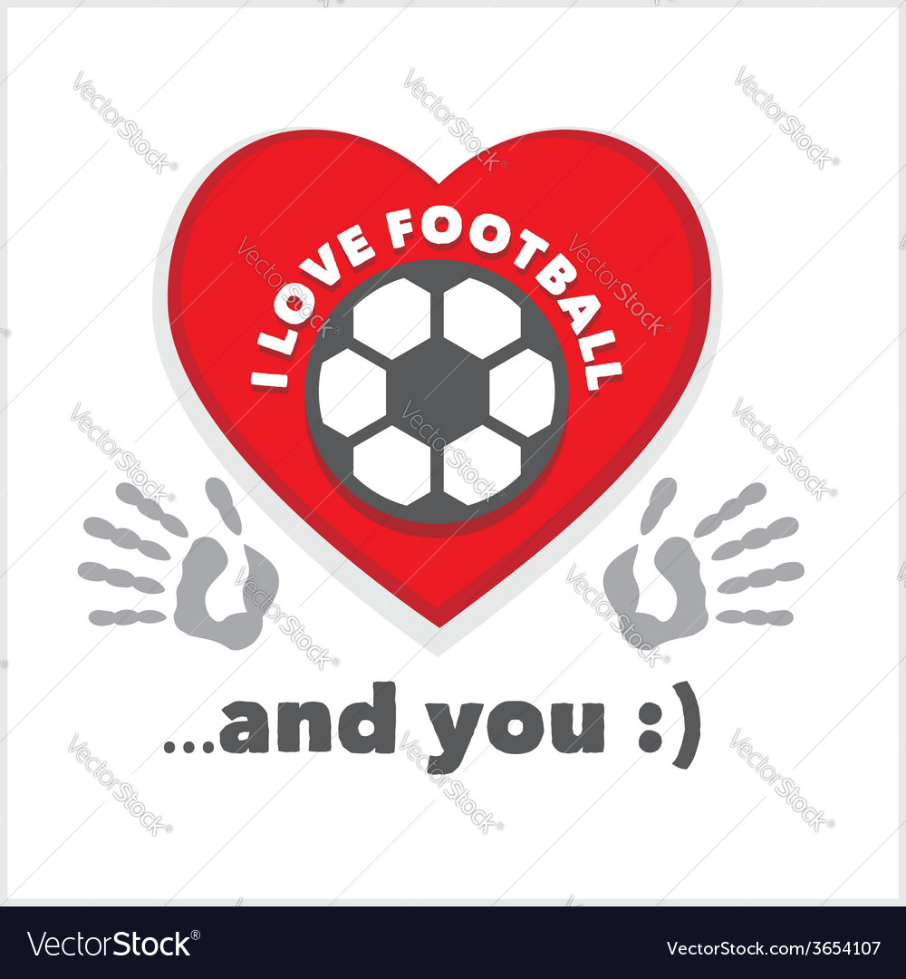 Red heart with an inscription - i love football vector | Price: 1 Credit (USD $1)