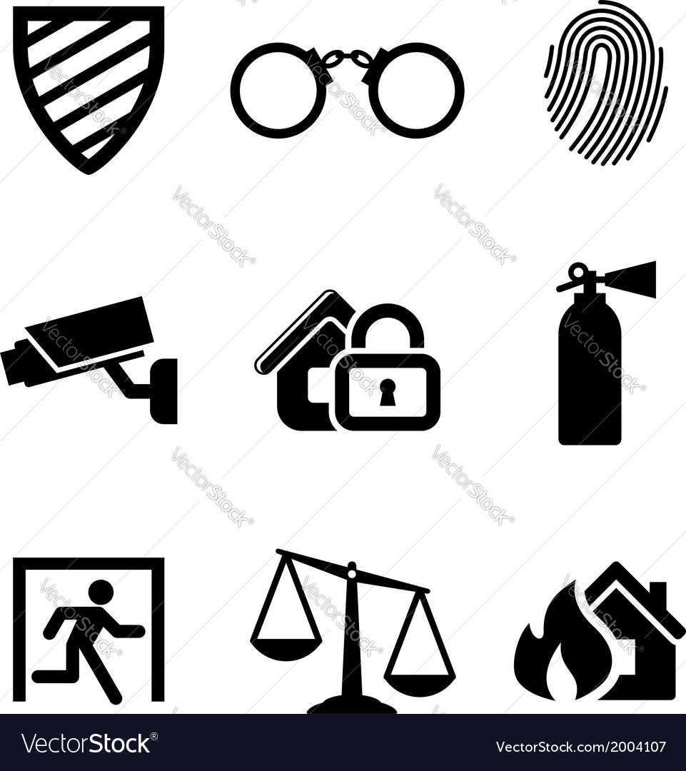 Safety and security icons vector | Price: 1 Credit (USD $1)