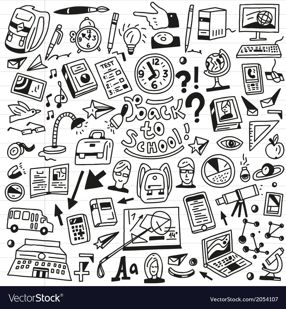 School education - doodles set vector | Price: 1 Credit (USD $1)