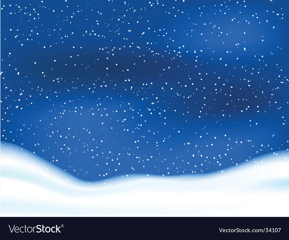 Snowy sky vector | Price: 1 Credit (USD $1)