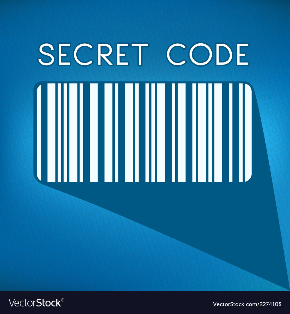 Bar code on blue background vector | Price: 1 Credit (USD $1)