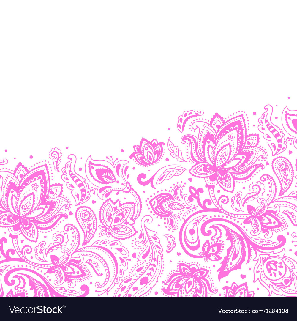 Beautiful paisley background vector | Price: 1 Credit (USD $1)