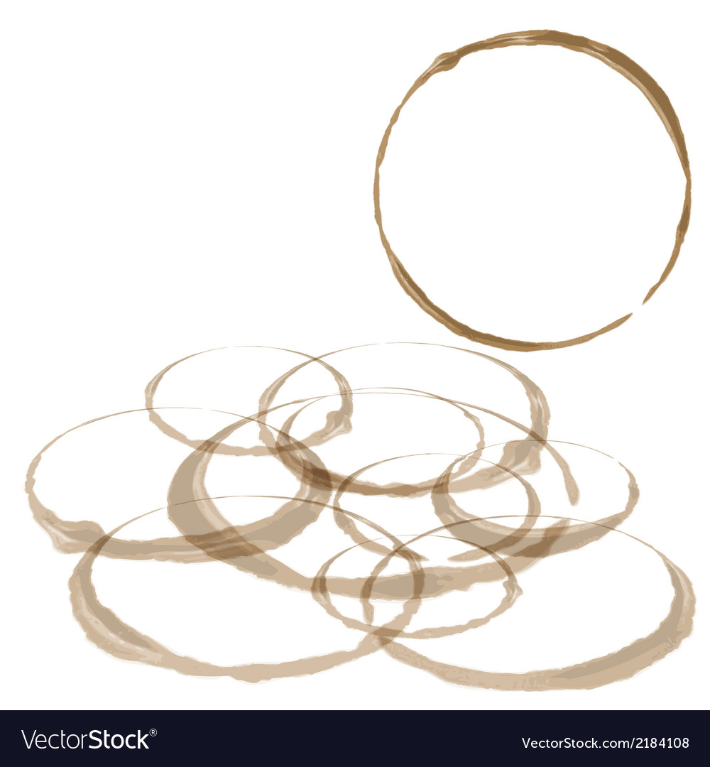 Coffee stain set isolated on white vector | Price: 1 Credit (USD $1)
