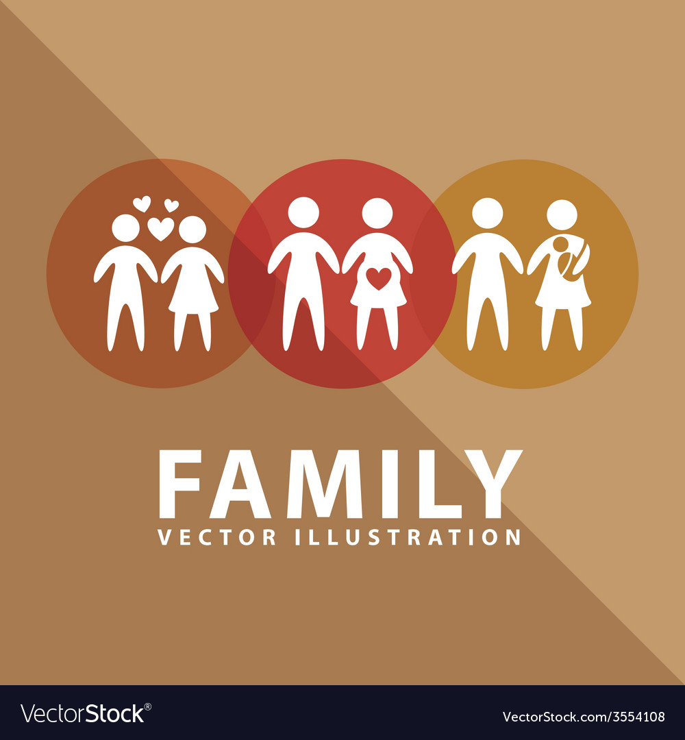 Family label design vector | Price: 1 Credit (USD $1)