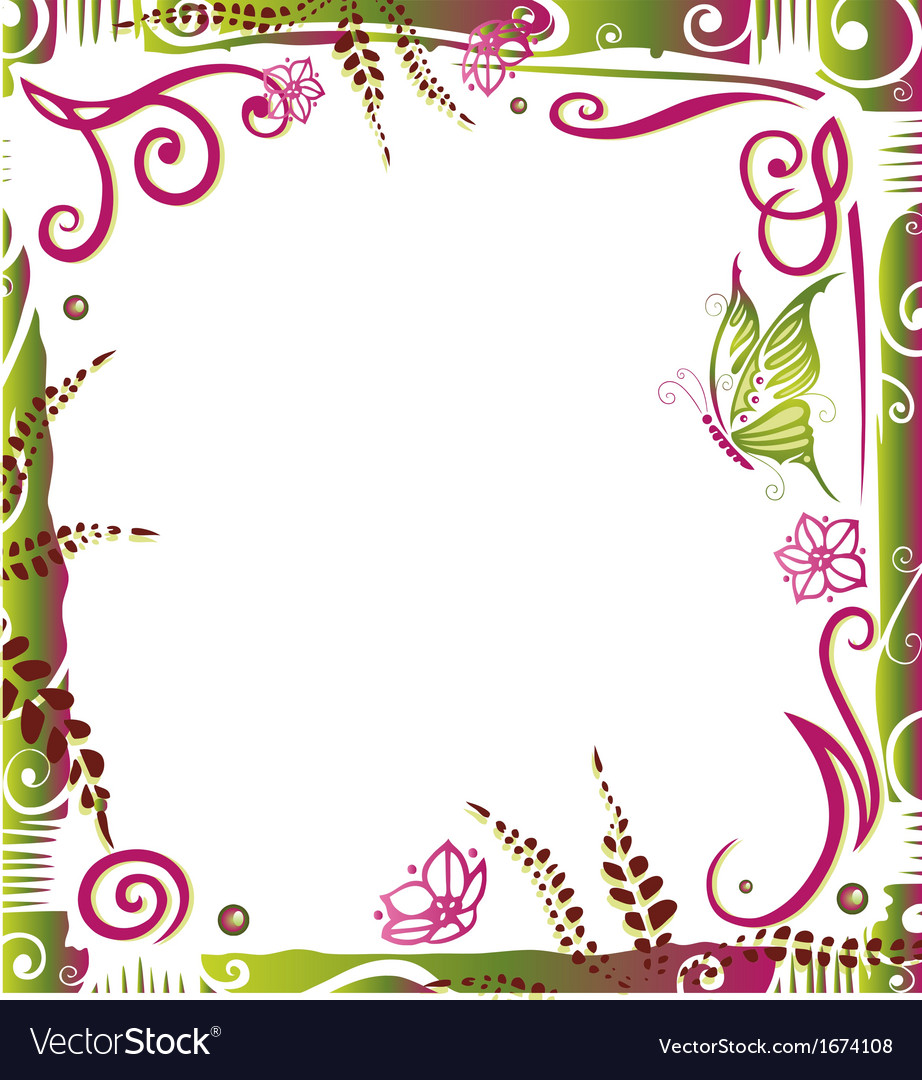 Frame summer time vector | Price: 1 Credit (USD $1)