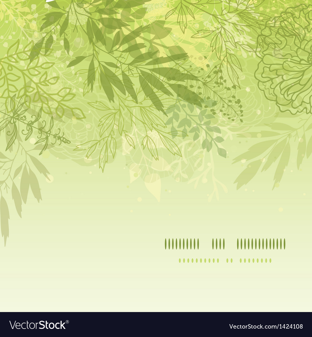 Fresh glowing spring plants square template vector | Price: 1 Credit (USD $1)