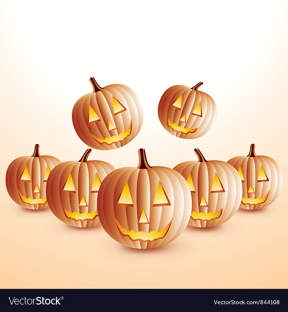 Happy halloween pumpkins vector | Price: 1 Credit (USD $1)