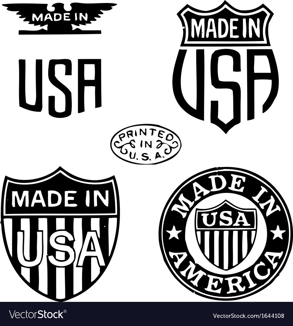 Made in the usa stamps vector | Price: 1 Credit (USD $1)