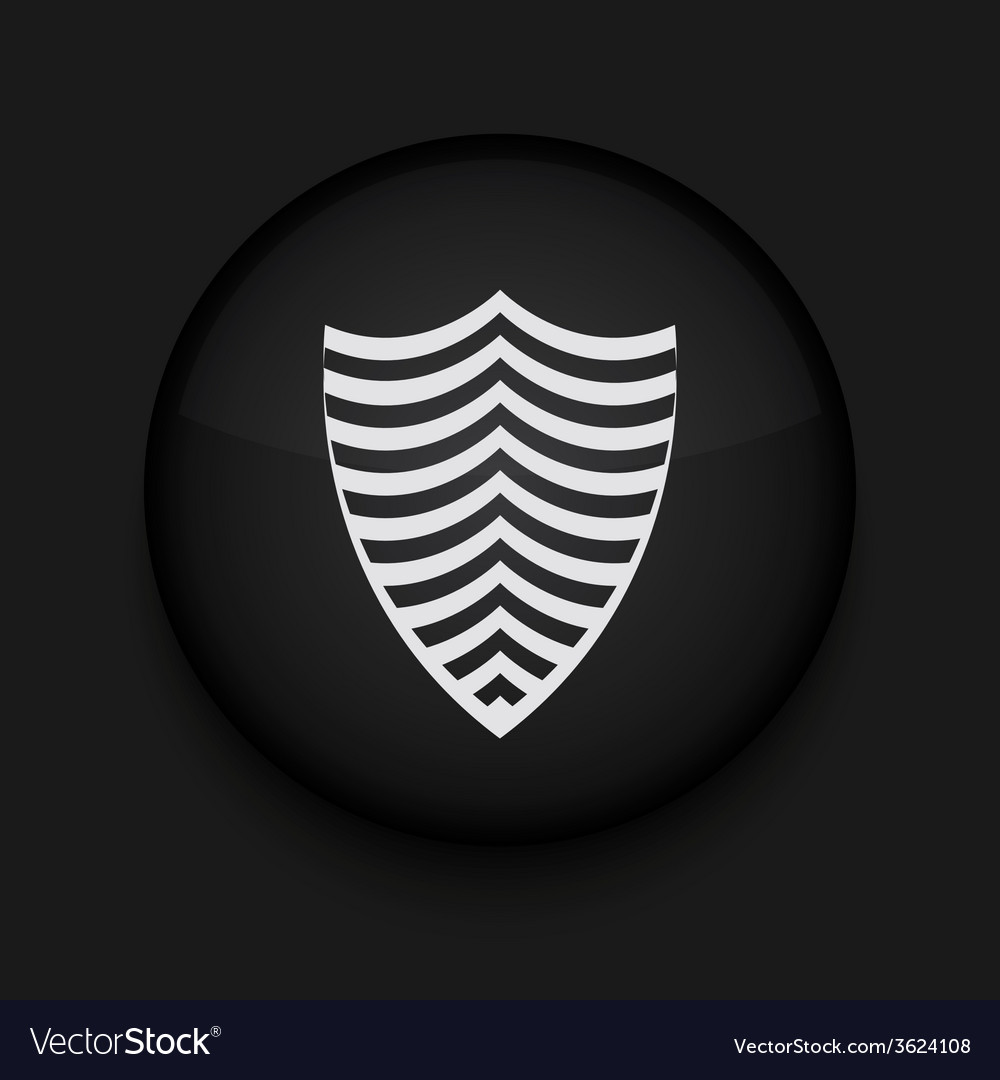 Modern shield black circle icon vector | Price: 1 Credit (USD $1)