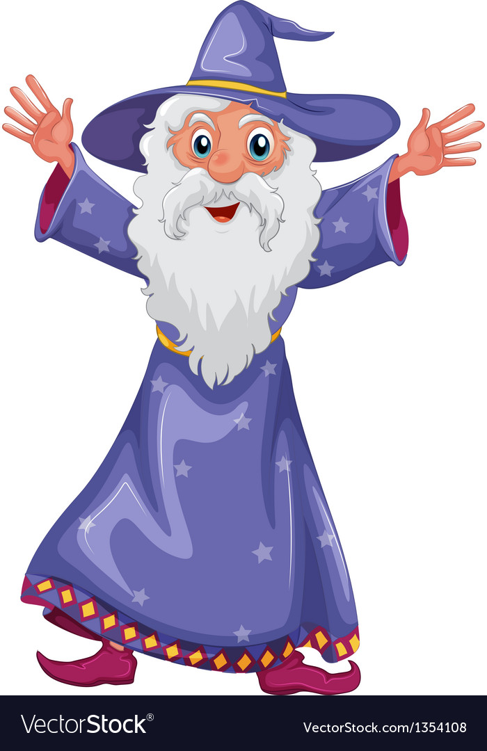 Old wizard vector | Price: 1 Credit (USD $1)
