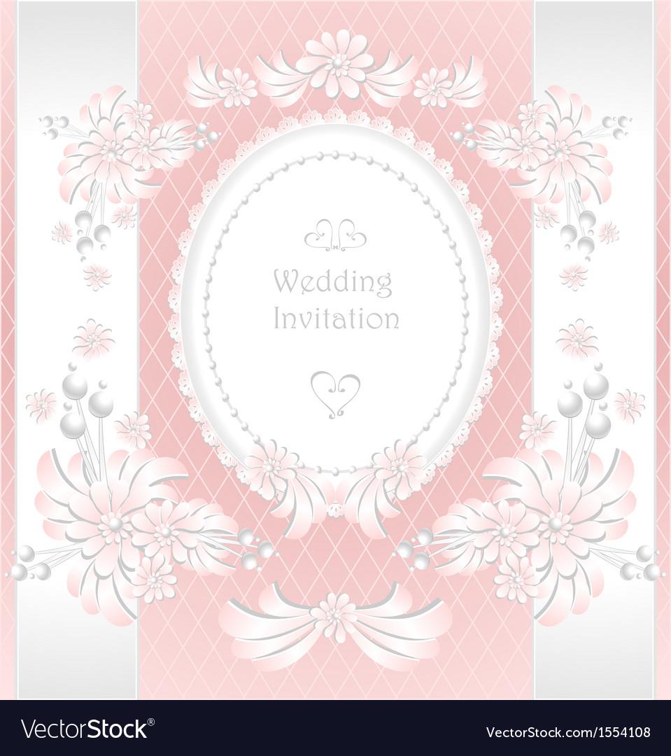 Wedding invitation or congratulation in pink vector | Price: 1 Credit (USD $1)