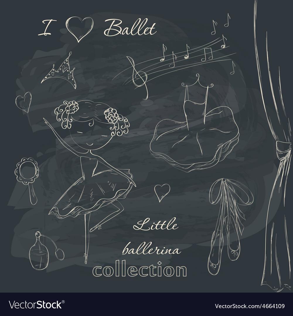 Ballerina and accessories vector | Price: 1 Credit (USD $1)