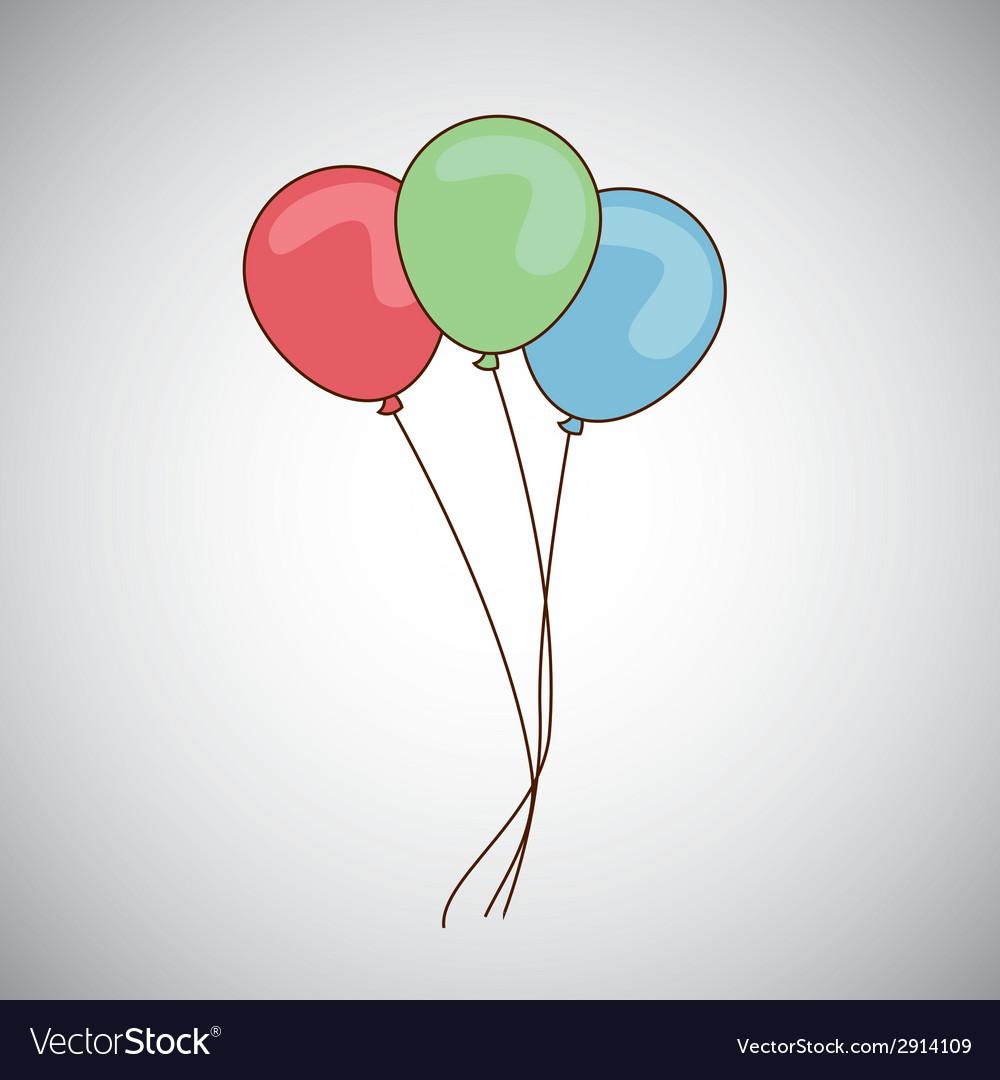 Balloons air design vector | Price: 1 Credit (USD $1)