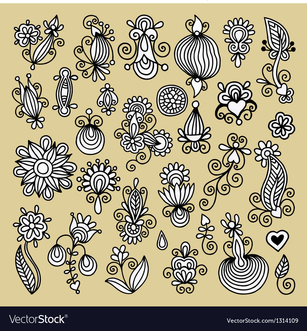 Black flower design element vector | Price: 1 Credit (USD $1)