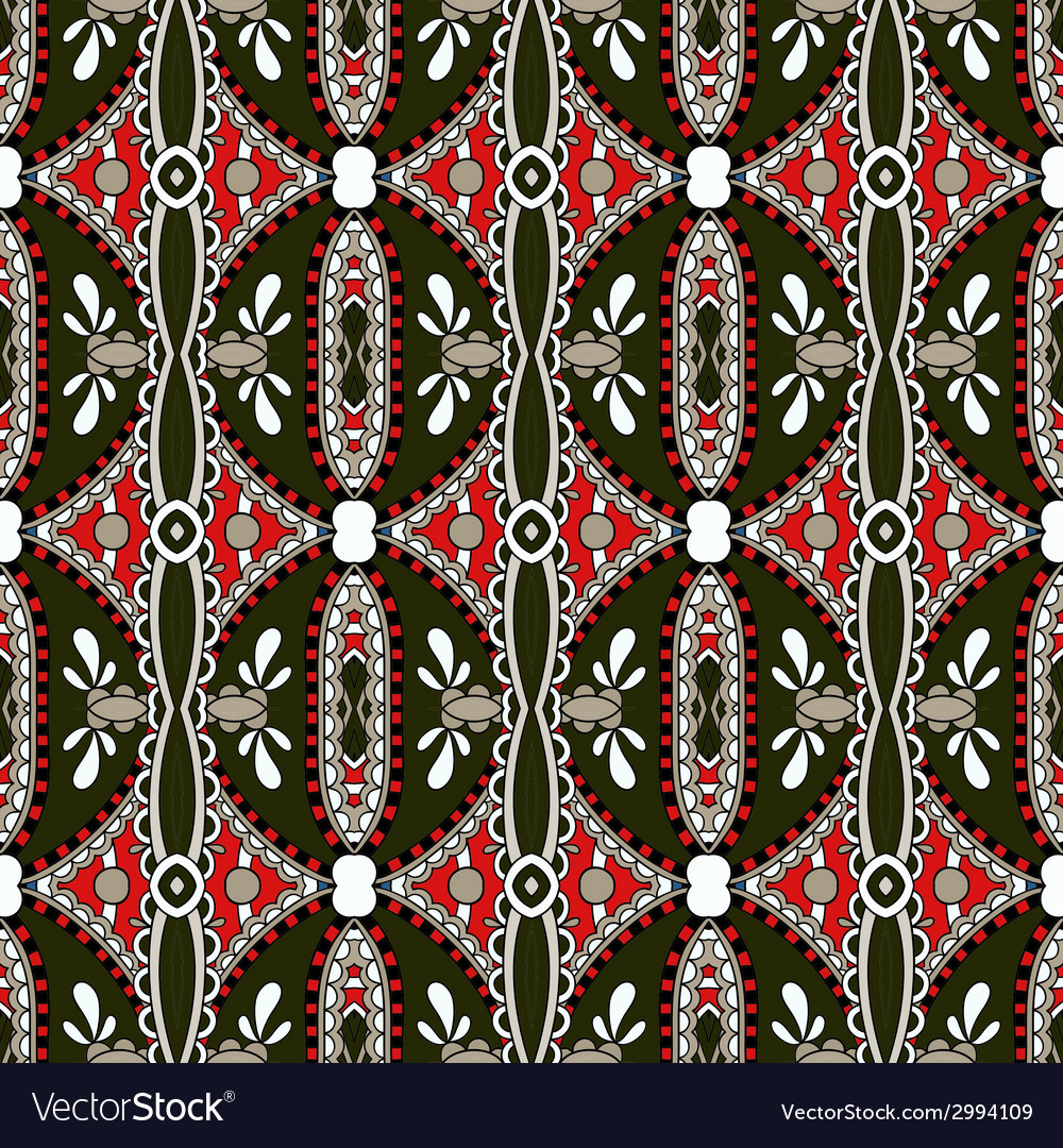 Geometry vintage floral seamless pattern vector | Price: 1 Credit (USD $1)