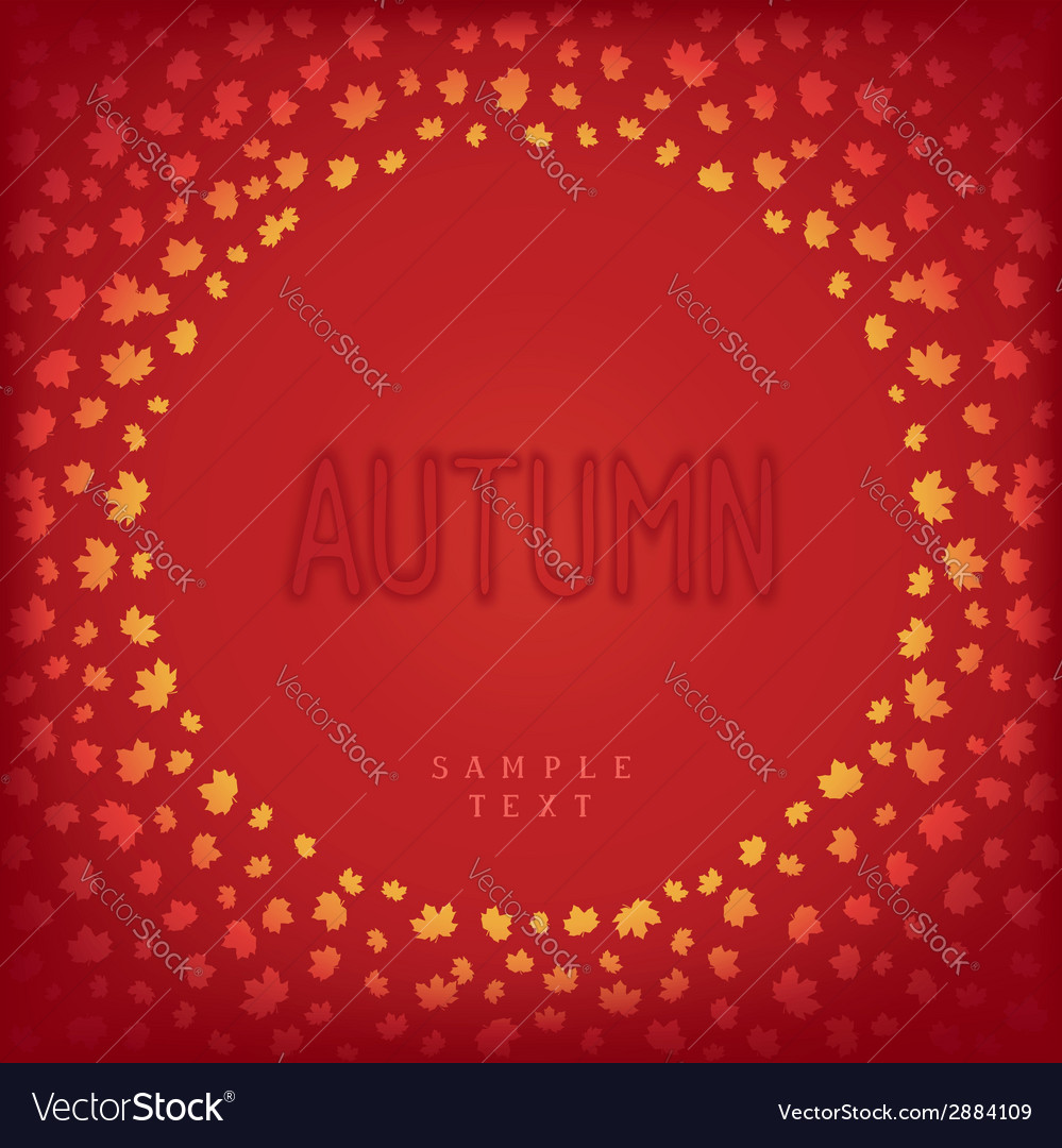 Greeting autumn card vector | Price: 1 Credit (USD $1)