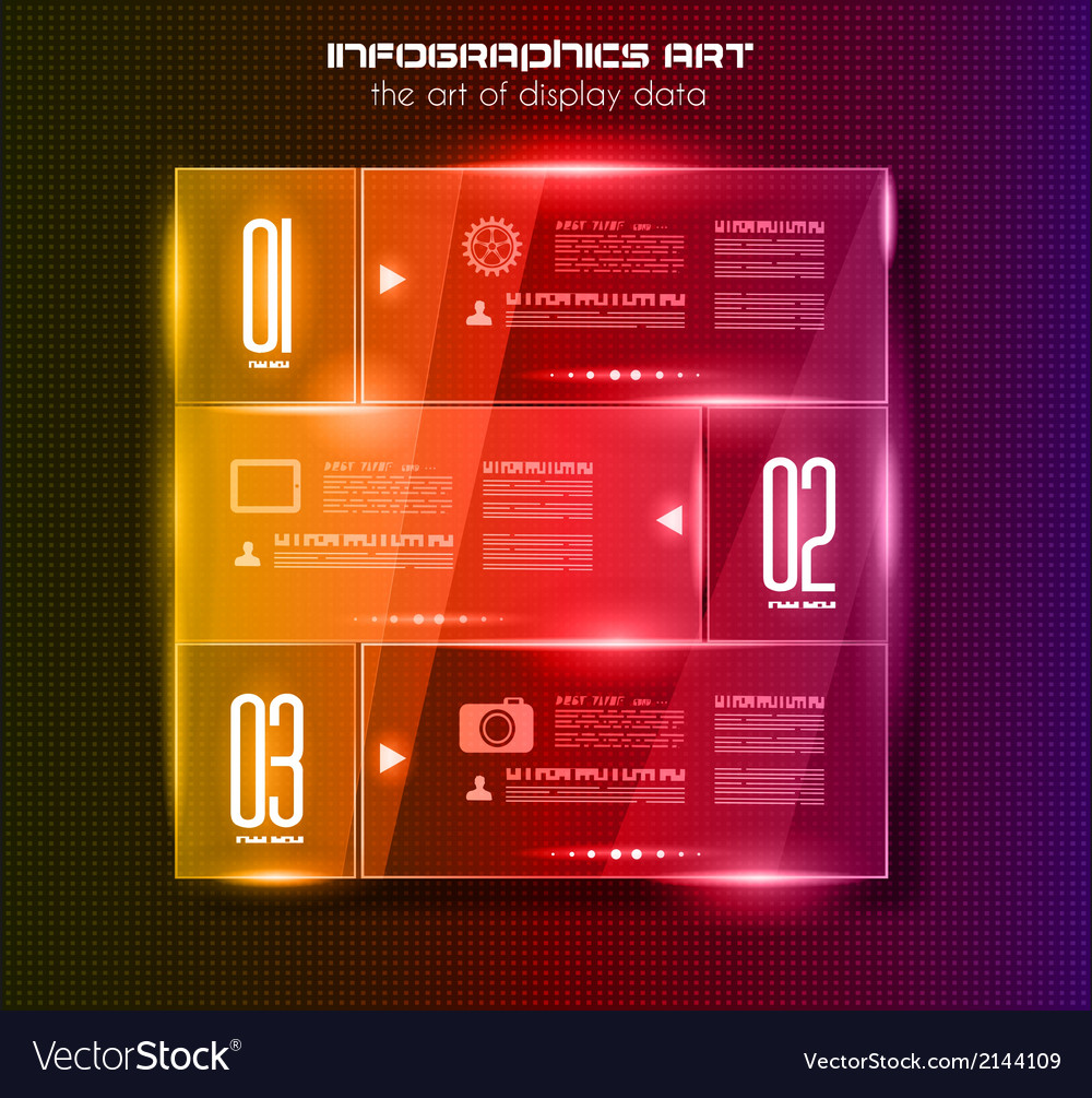 Infographic design template with glass surfacesand vector | Price: 1 Credit (USD $1)