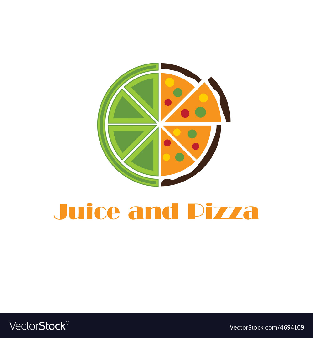 Juice and pizza concept vector | Price: 1 Credit (USD $1)