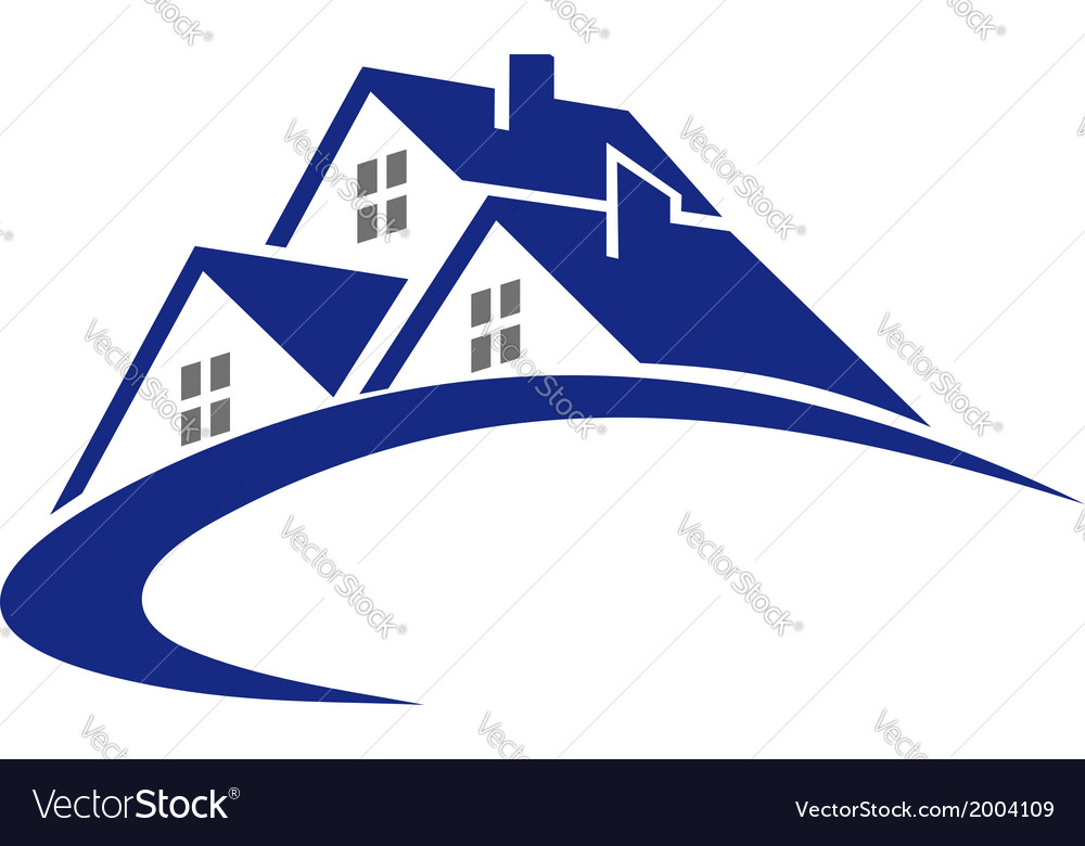 Modern cottage or house symbol vector | Price: 1 Credit (USD $1)