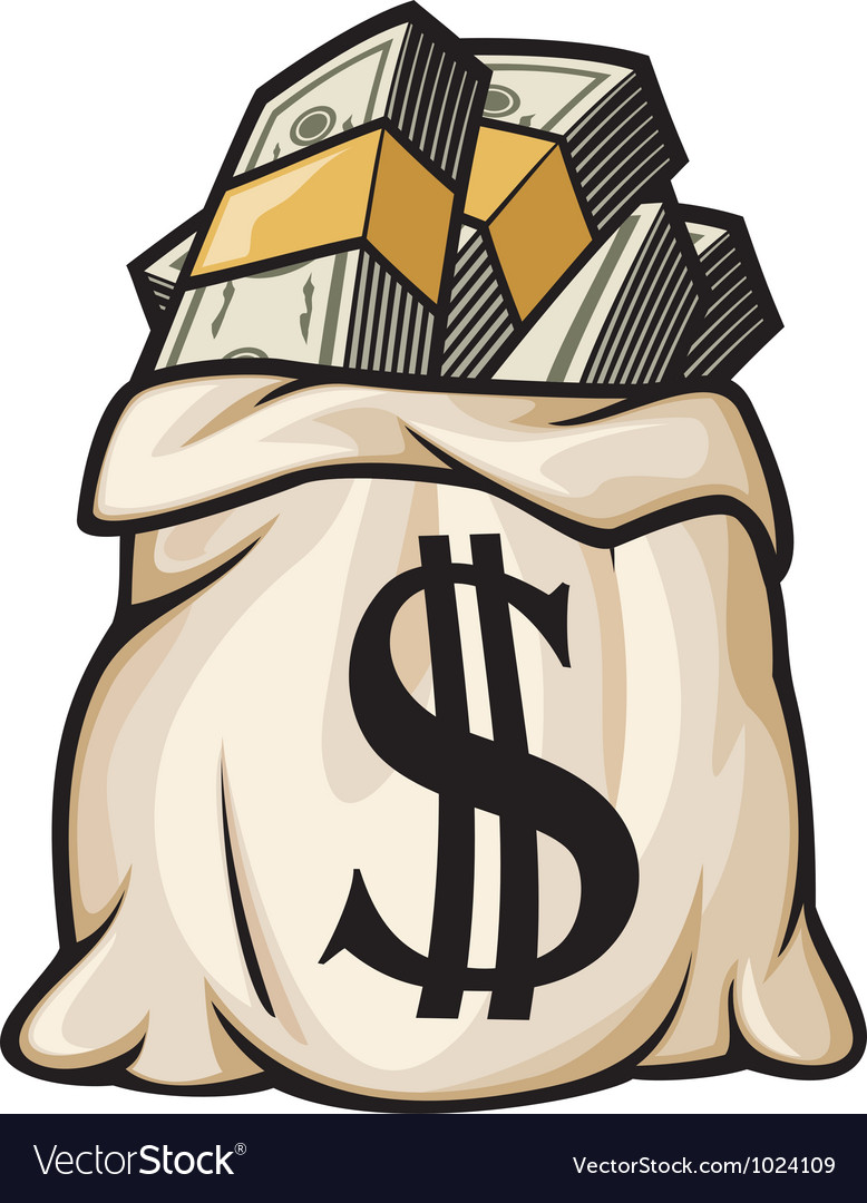 Money bag with dollar sign vector | Price: 1 Credit (USD $1)