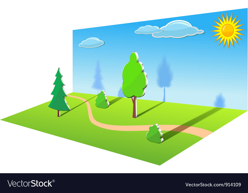 Path in the woods vector | Price: 1 Credit (USD $1)