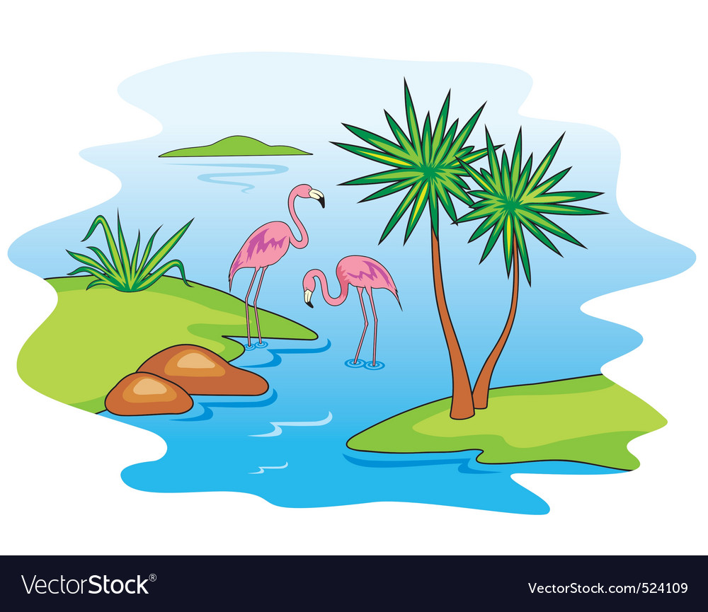 Pink flamingo vector | Price: 1 Credit (USD $1)