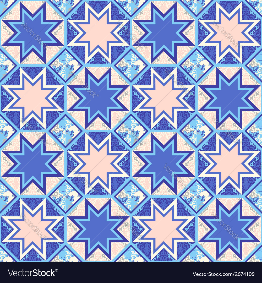 Quilt abstract seamless pattern vector   Price: 1 Credit (USD $1)