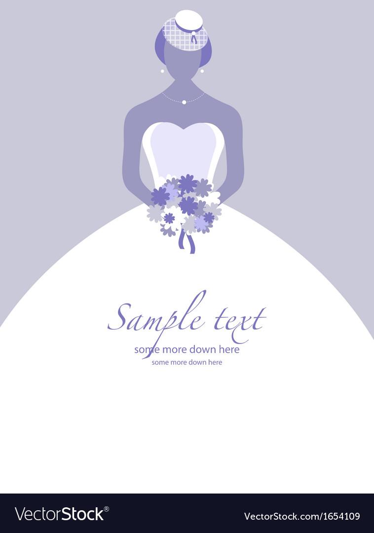 Retro bride background vector | Price: 1 Credit (USD $1)