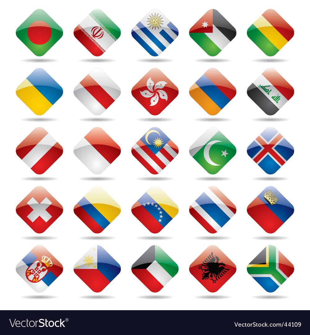 World flag icons vector