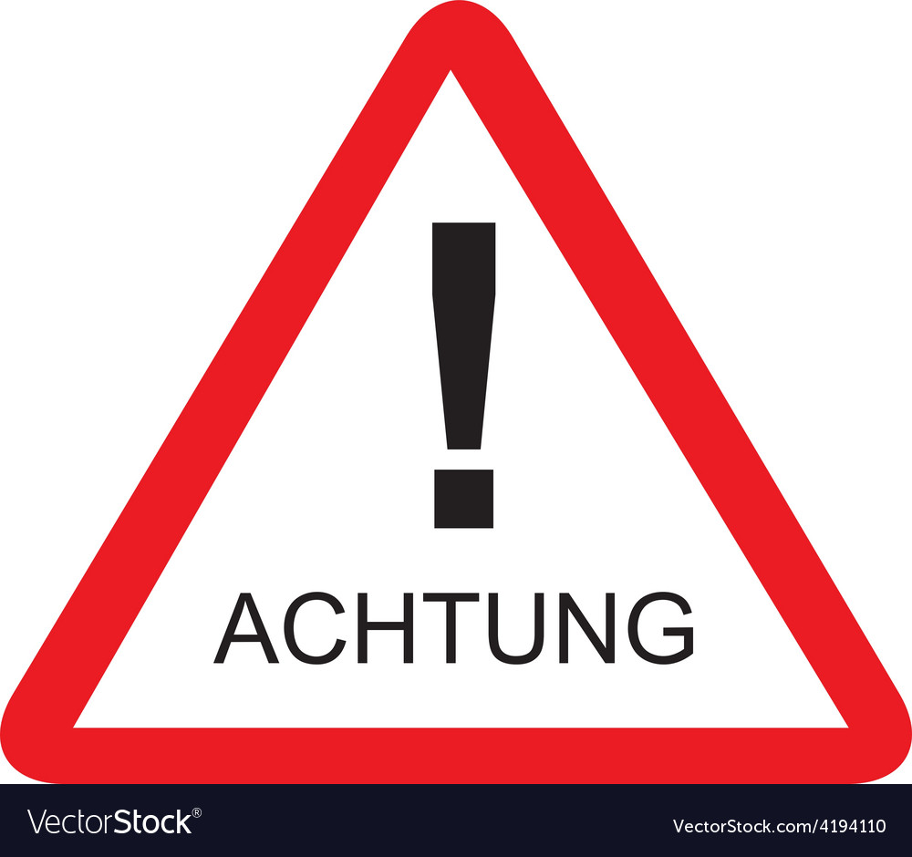 Achtung vector | Price: 1 Credit (USD $1)
