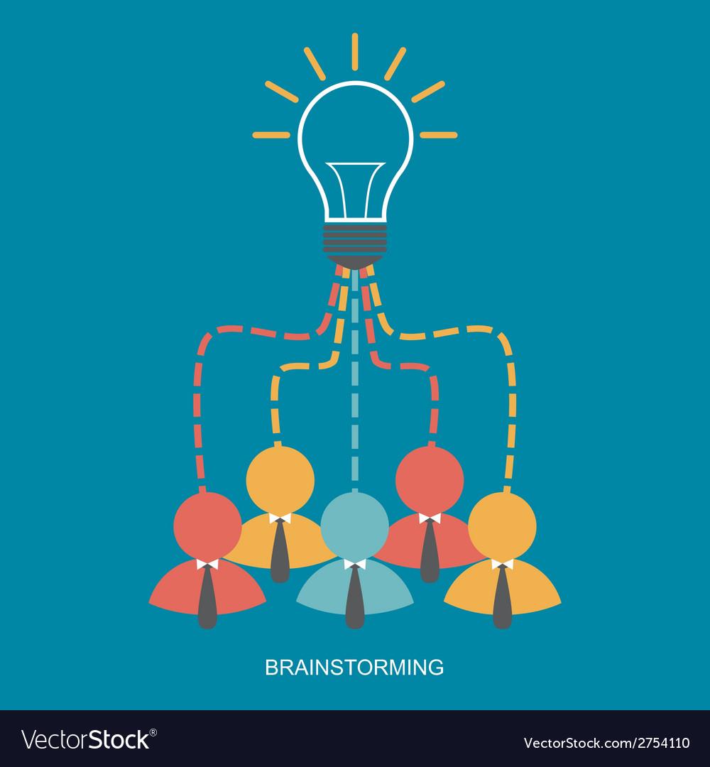 Brainstorm and teamwork vector | Price: 1 Credit (USD $1)