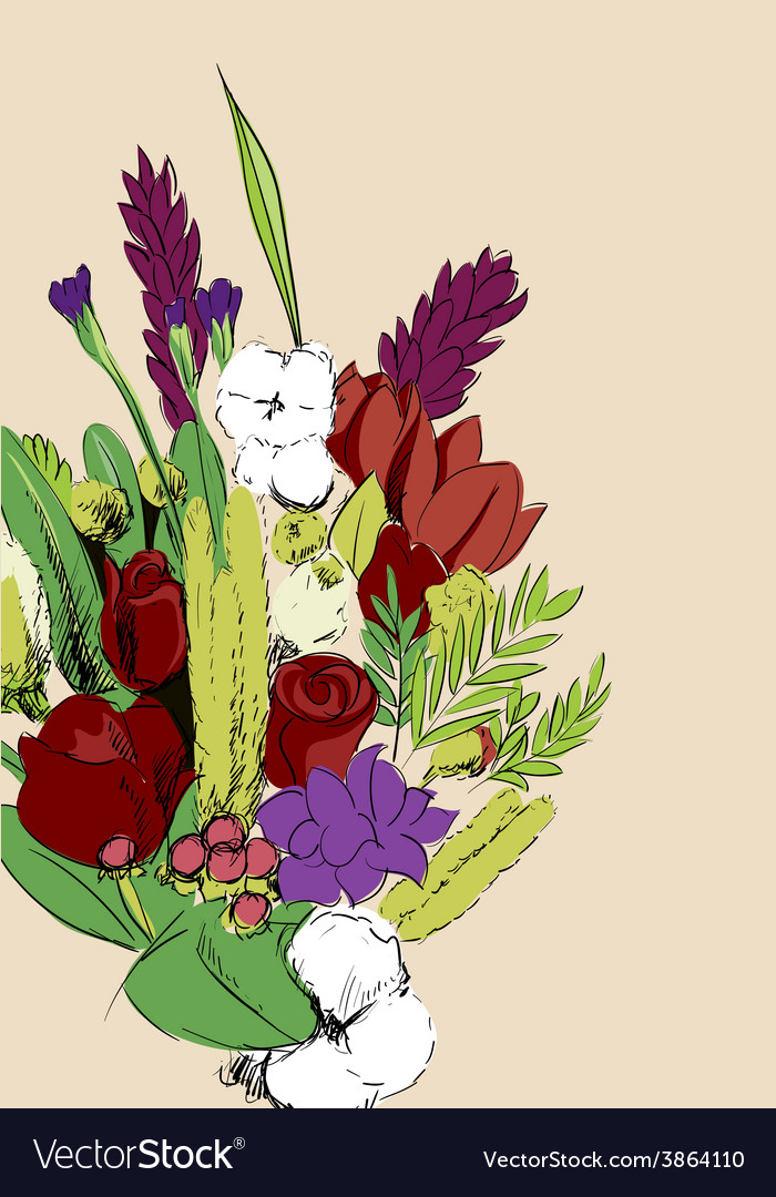 Bunch of flowers vector | Price: 1 Credit (USD $1)
