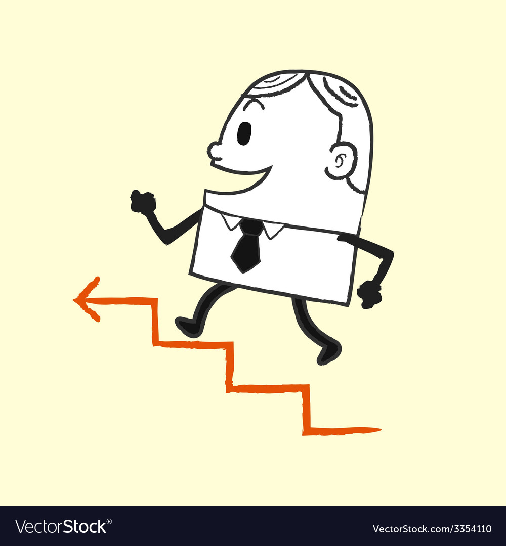 Business man running up vector | Price: 1 Credit (USD $1)