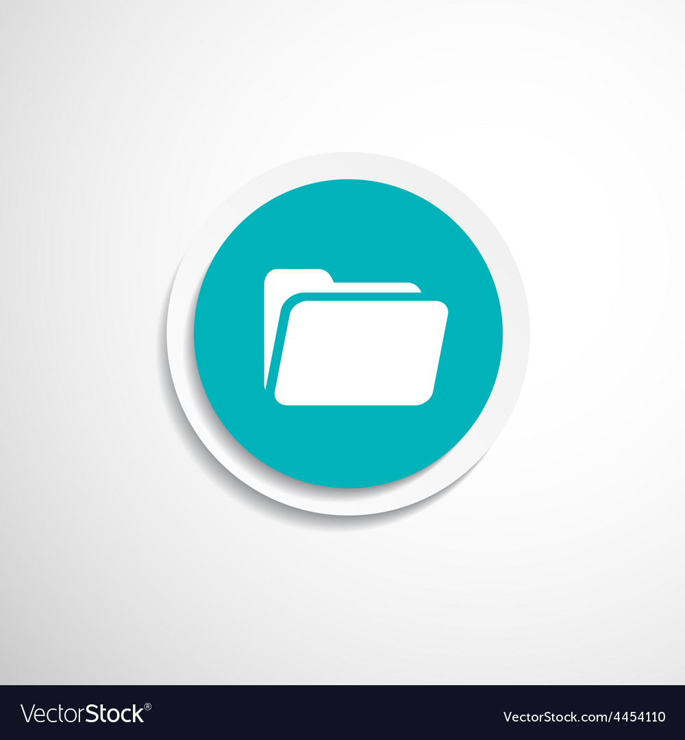 Circle icon folder binder isolated file document vector | Price: 1 Credit (USD $1)