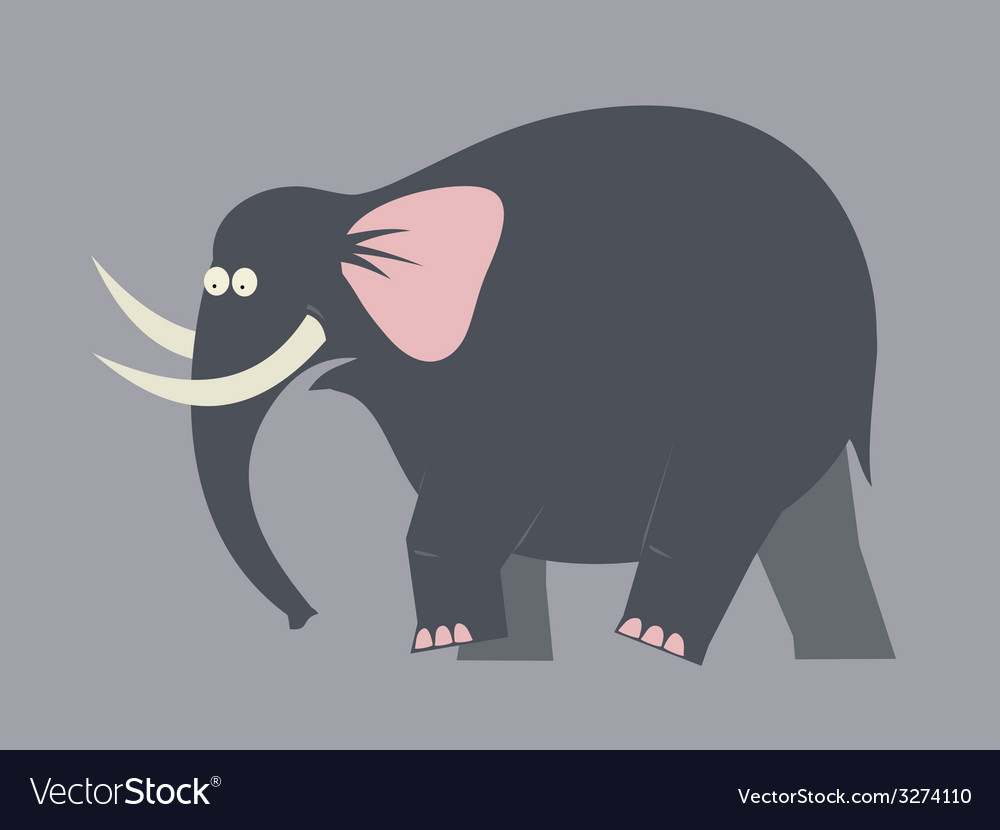 Elephant moving color vector   Price: 1 Credit (USD $1)
