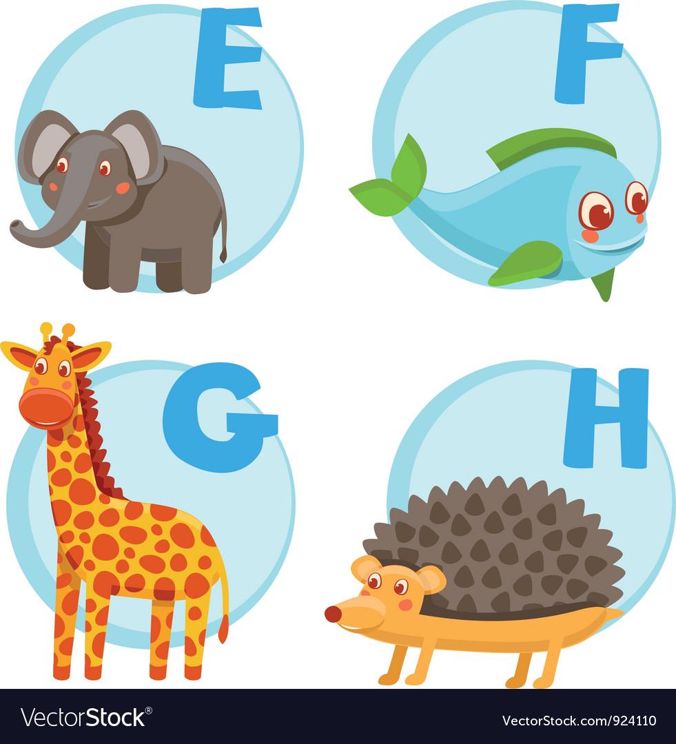 Funny cartoon alphabet vector | Price: 3 Credit (USD $3)