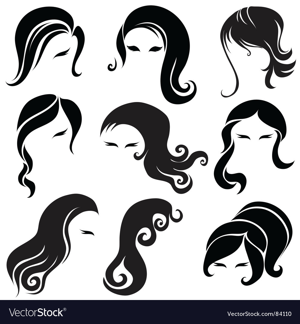 Hair styling vector | Price: 1 Credit (USD $1)