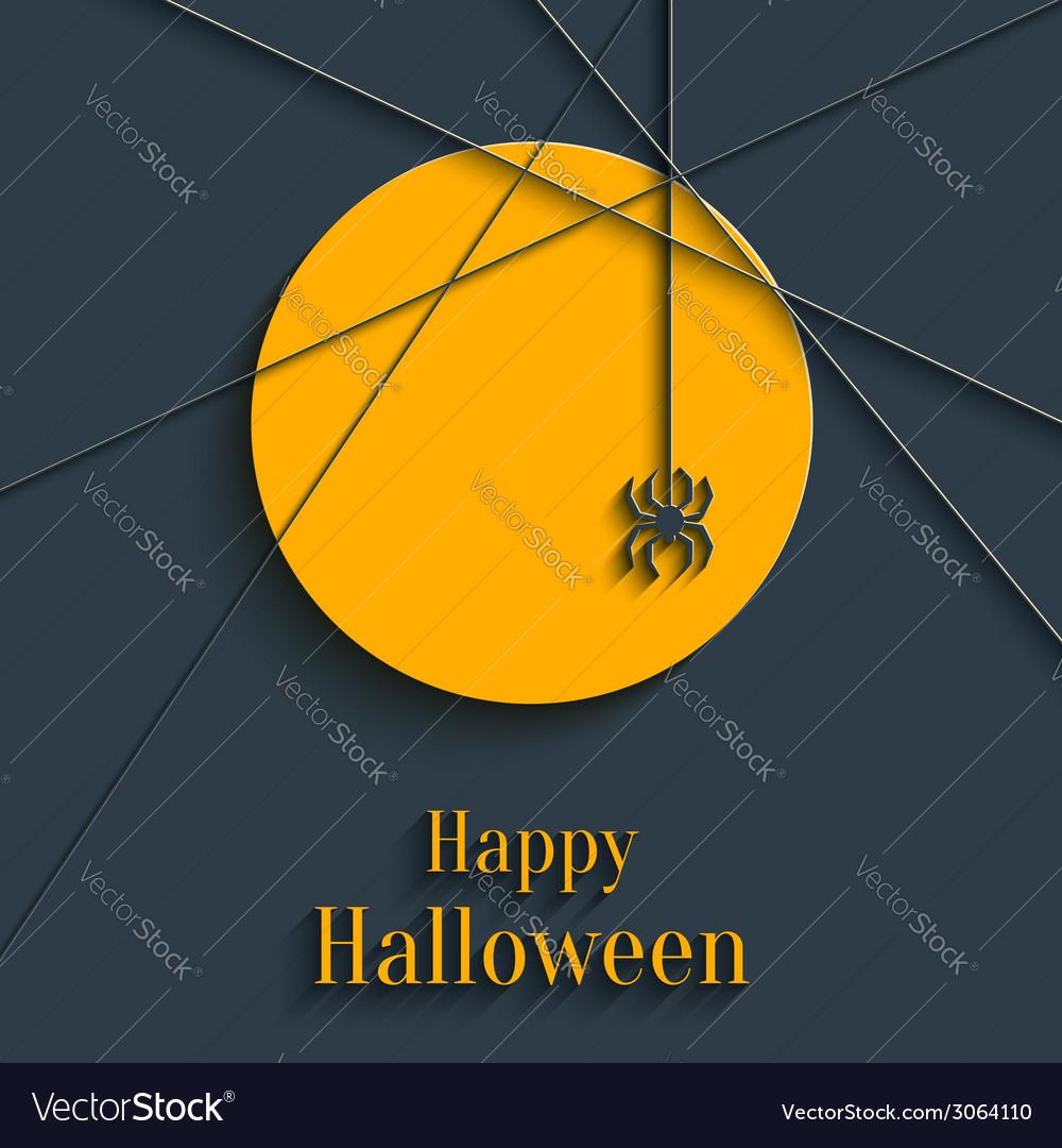 Happy halloween card vector | Price: 1 Credit (USD $1)