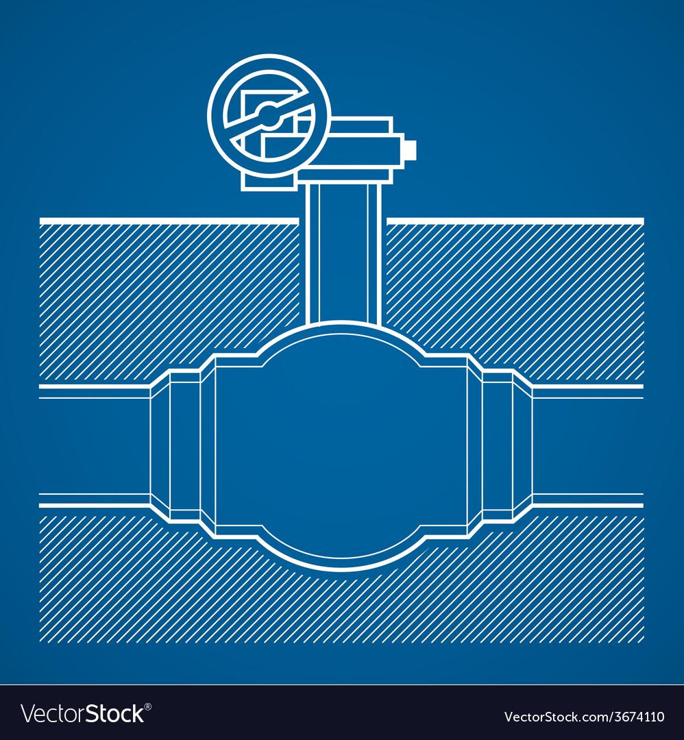 Industrial tap vector | Price: 1 Credit (USD $1)