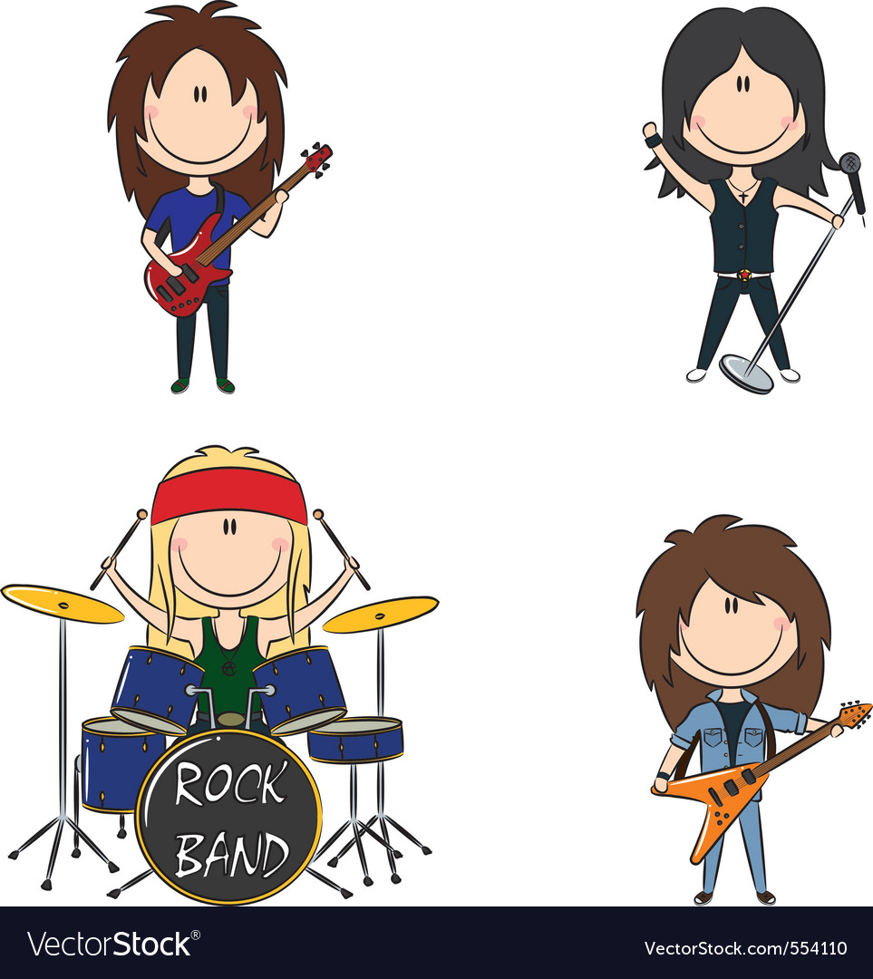 Kid rock band vector | Price: 3 Credit (USD $3)
