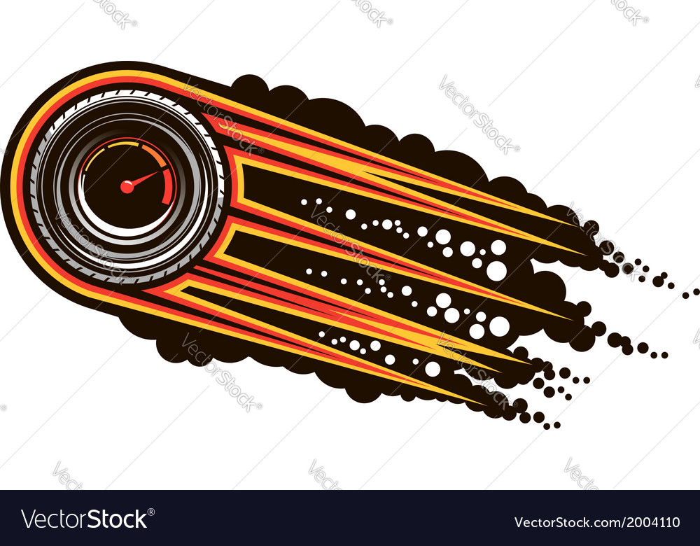 Red hot speeding motorsports icon vector | Price: 1 Credit (USD $1)
