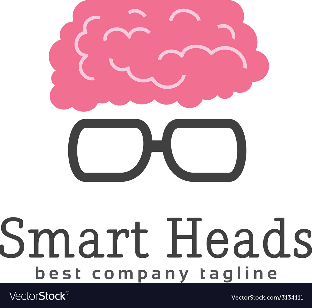 Abstract smart head with glasses logo icon concept vector | Price: 1 Credit (USD $1)