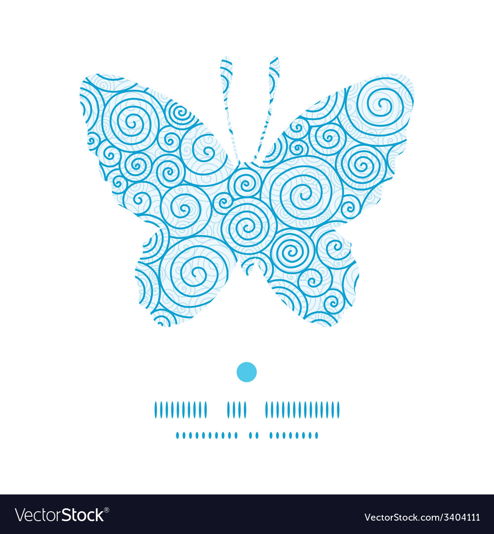 Abstract swirls butterfly silhouette pattern frame vector | Price: 1 Credit (USD $1)